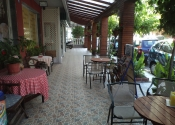 Paralia Dionisiou, rooms and bakery outside